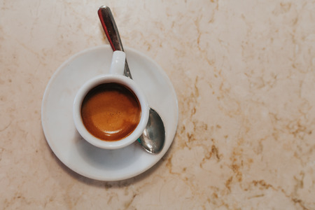 Top view of coffee cup. Stock Photo