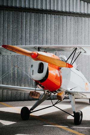 aerodrome: Vintage plane at the aerodrome.