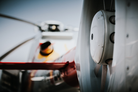 rotor: Helicopter tail rotor close up.