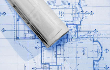 blueprints on table , Imagens