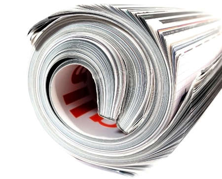 image of a rolled up magazine Stock Photo - 364044