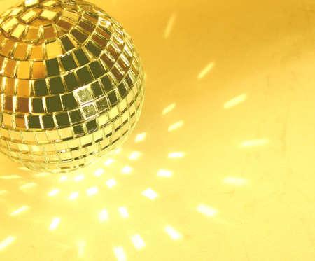 gold yellow disco ball