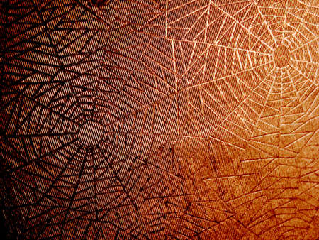 abstract orange spider background