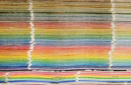 close-up of a color swatch