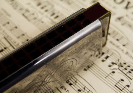 sheetmusic: harmonica on music