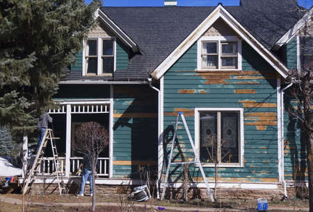 laborious: old victorian house in repair