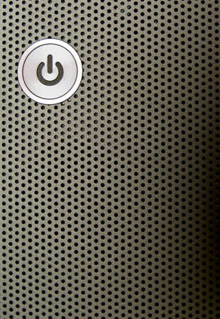 close-up of apower on button