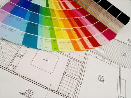 Farbe swatshes und Pläne  Standard-Bild - 368771