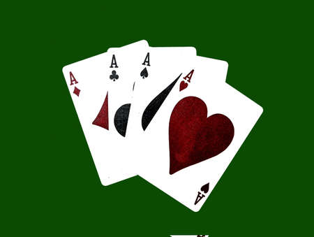 four aces  black background (hi rez) Stock Photo - 386685