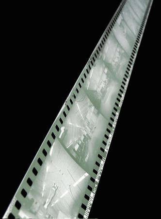 b&w 負の抽象的なフィルム ストリップ