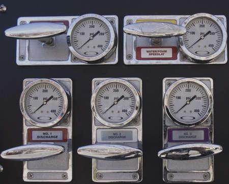 fire truck gauges photo