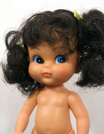 old plastic doll