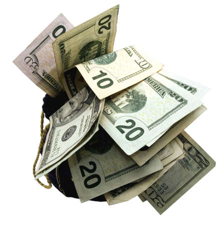a bag full of money Imagens