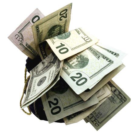 a bag full of money Stock Photo