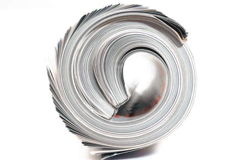 mag: rolled up magazine