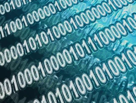 abstract binary code Imagens - 425939