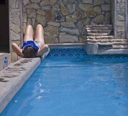 chilling: chilling by the pool