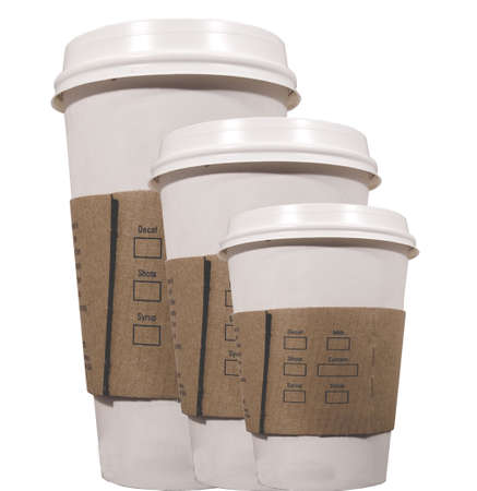 three coffee cups to go Stock Photo - 500320