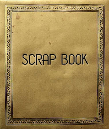 古いスクラップ ブック カバー