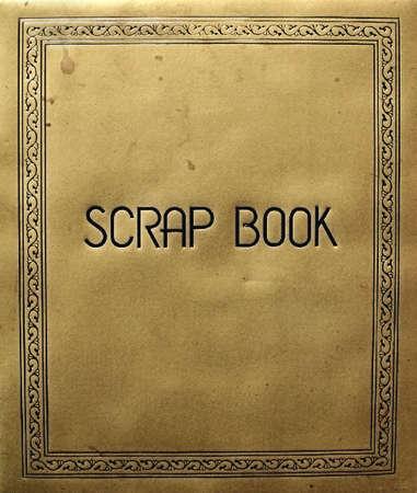 scrapbook cover: cubrir viejo bloc de notas  Foto de archivo