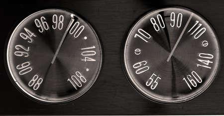 old radio dials