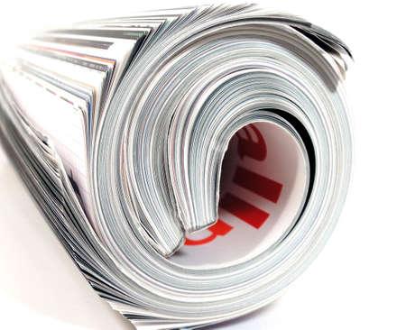 hi key rolleduyp magazine Stock Photo - 510253