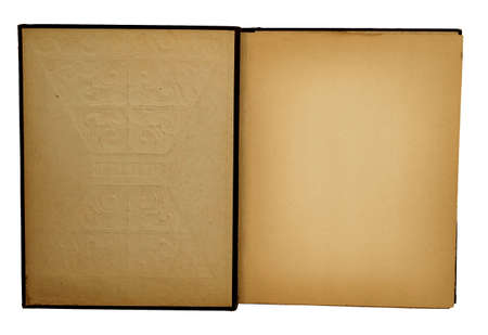 yellowing: inside of old scrapbook