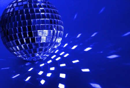 pink disco ball close-up
