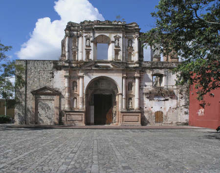 church ruins antigua Imagens
