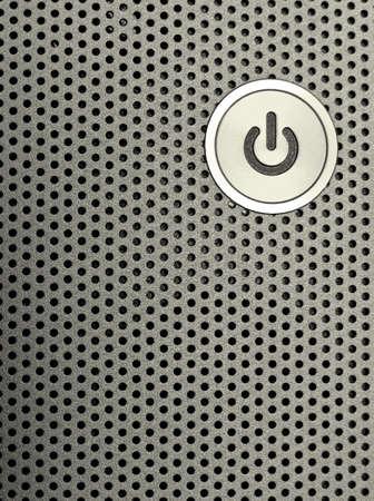 powerbutton: close-up de un poder sobre el bot�n