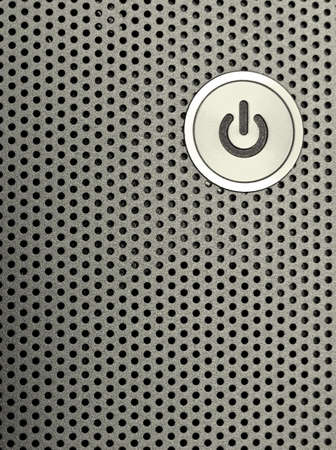 close-up of a power on button