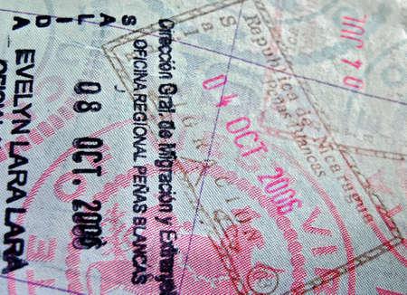 close up of a visa Imagens