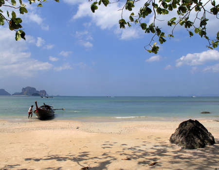 beach and boat  thailand