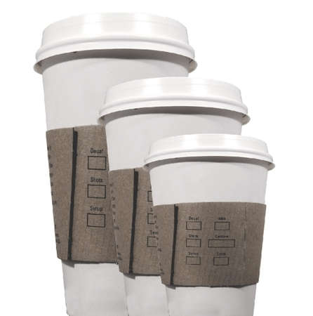 three coffee cups to go Stock Photo - 843798