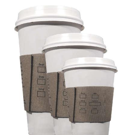 three coffee cups to go Stock Photo - 843798