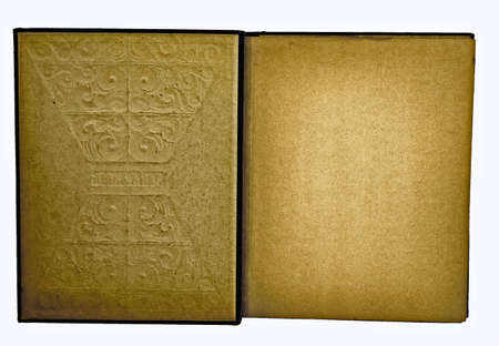 inside of old scrapbook
