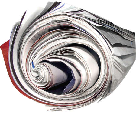 old  rolled up magazine Stock Photo