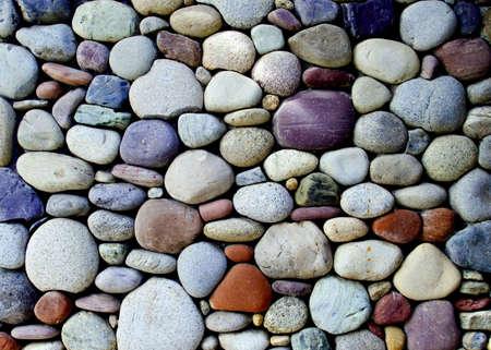 pebble stone wall  photo
