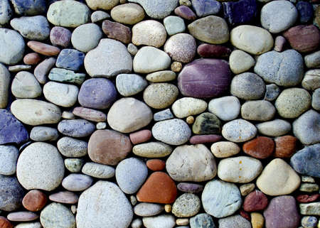 pebble stone wall  photo