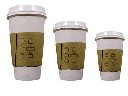 caf� � emporter: trois tasses de caf� pour aller