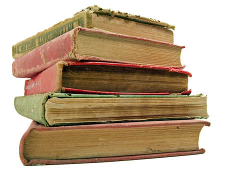 stack of old books photo