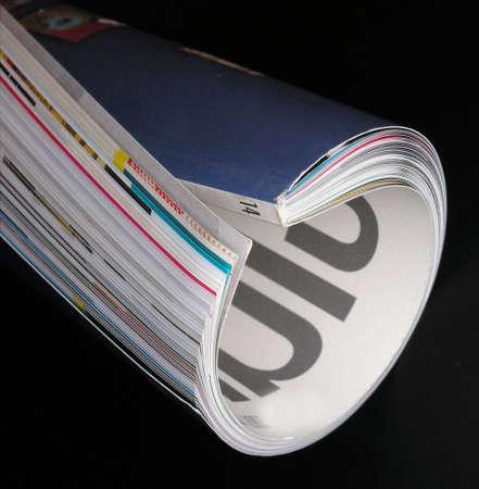 magazine on black Stock Photo - 1201209