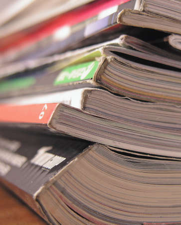 close up of  a stack  of magazine Stock Photo - 1201220