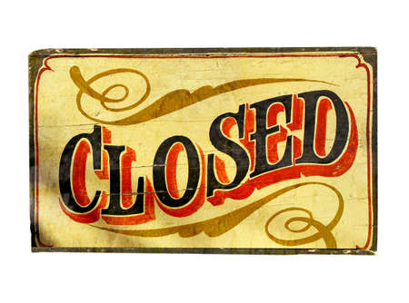 old closed sign