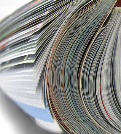 close up of a rolled up magazine      Stock Photo - 1952597