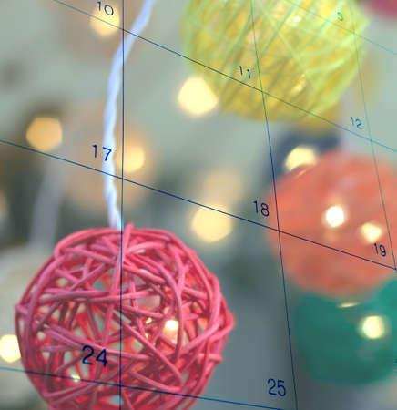 christmass light calendar         Stock Photo