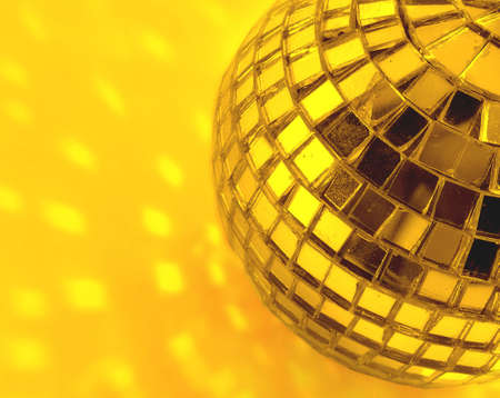 mirror ball   in gold      photo