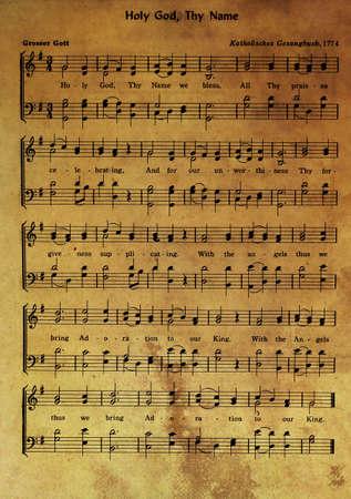 hymn: old hymn 1774 Stock Photo