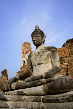 buddah in ayutthaya bangkok thailand  photo