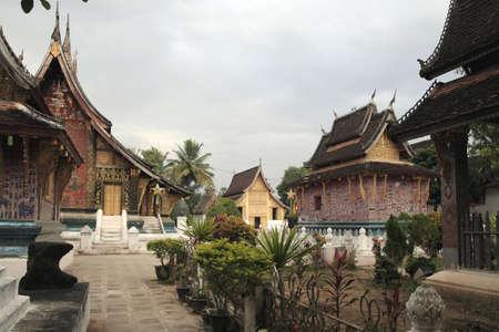 lao: templels en lao  Banque d'images